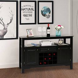 Kinbor Sideboard Cabinet Wine Storage Wine Cabinet Table Big Storage Useful Buffet Table Kitchen ...