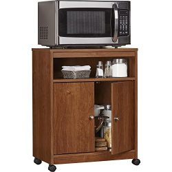 Ameriwood Home Landry Microwave Cart, Bank Alder