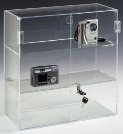 Displays2go 16.5 by 16.25-Inch Countertop Acrylic Display Case with 2 Shelves