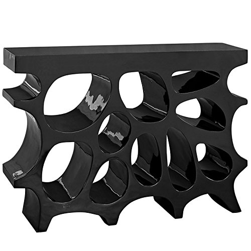 Modway Wander Small Stand In Black – Modern Side Table For Entryway – Magazine Or Bo ...