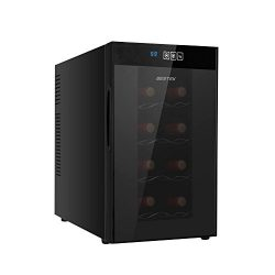 BESTEK 8 Bottle Thermoelectric Red & White Wine Cooler/Chiller, Counter Top Wine Cellar w/Sc ...