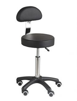 Studio Stool Chair Adjustable Swivel Rolling for Home Office Work-Benches Lab Hospital Kitchen S ...