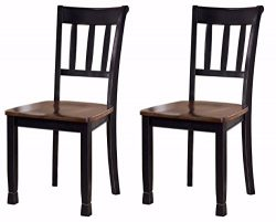Ashley Furniture Signature Design – Owingsville Dining Room Side Chair – Latter Back ...