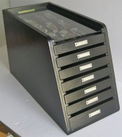 Knife Storage/Display Case Holder Tool Storage Cabinet, with drawers (Black Finish)
