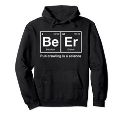 Unisex Pub Crawl Beer Periodic Table Science Hoodie XL: Black
