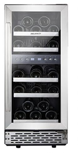 "Phiestina 29 Bottle Wine Cooler 15"" Built-in or Free-standing Compressor Cooling Refrigera ..."