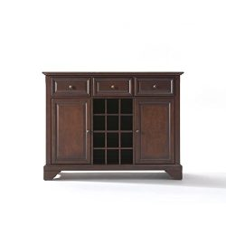 Ergode LAFAYETTE BUFFET SERVER/SIDEBOARD CABINET WITH WINE STORAGE IN VINTAGE MAHOGANY FINISH