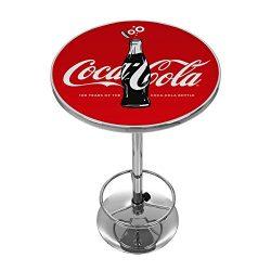 Trademark Gameroom 100th Anniversary of the Coca-Cola Bottle Pub Table, Chrome