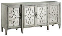 Stein World Furniture Lawrence Breakfront Credenza, Grey
