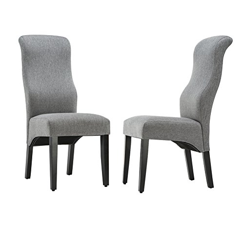High Backed Kitchen Chairs: Andeworld Set Of 2 Upholstered Dining Chairs High Back