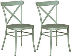 Signature Design by Ashley D400-104 Minoan Dining-Chairs, Light Green