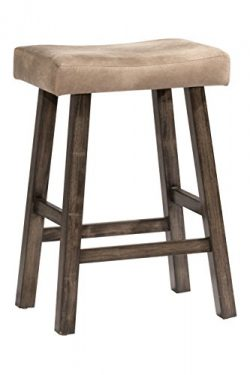 Hillsdale 4621-826 Saddle Stool, Rustic Gray, Counter