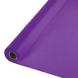 Creative Converting 318934 Plastic Table Cover Banquet Roll, 100′, Amethyst