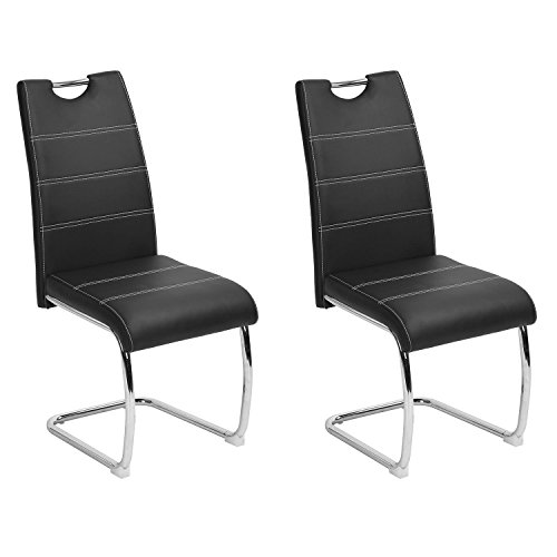 Set Of 2 Kitchen Dinette Dining Room Chair Elegant Design: Dining Chairs Set Of 2 Aingoo Upholstered PU Leather