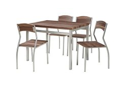 Abington Lane 5-Piece Rectangular Dining Table Set with 4 Chairs