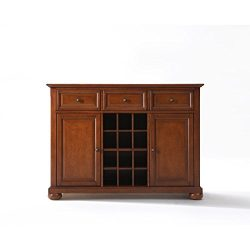 Ergode ALEXANDRIA BUFFET SERVER/SIDEBOARD CABINET WITH WINE STORAGE IN CLASSIC CHERRY FINISH