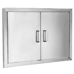 BestEquip Double BBQ Island 304 Stainless Door Double Access BBQ Door 31X24inch Double Door Flus ...
