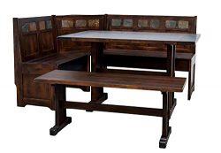 Rustic Dining Table – Aranview Corner Breakfast Nook