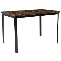 "Flash Furniture Avalon 30"" x 45.75"" Dining Table in Espresso Marble-Like Finish"