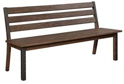 Scott Living Atwater Collection Vintage Bourbon Finish Wood Dining Bench