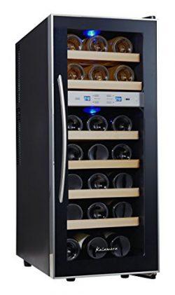 Kalamera 21 Bottle Dual Zone Freestanding Thermal Wine Cooler Free Standing