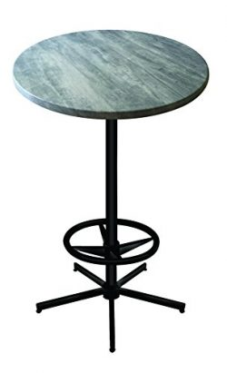 Holland Outdoor OD214B4230RGryStn 42″ Tall Indoor/Outdoor All-Season Pub Table with 30R ...