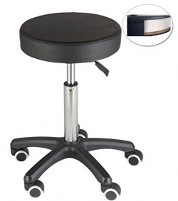 FRNIAMC Shop Stools on Wheels for Salon Spa Home Kitchen Studio Stool with Wheel Casters, Black