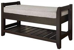 Lifestyle Turino Storage Bench, Gray