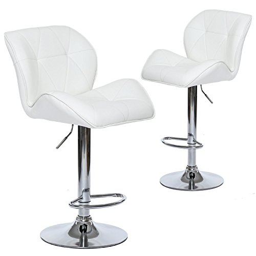 Cowhide Barstools Vintage Black White Hairhide Leather Bar: Wahson Leather Adjustable Swivel Bar Stools With Contoured
