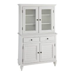 Home Styles 5543-617 Bermuda Buffet and Hutch, Brushed White