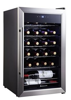Kalamera 24 Bottle Single Zone Wine Cooler Small Wind Fridge