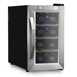 Ivation 8 Bottle Thermoelectric Wine Cooler/Chiller – Stainless Steel – Counter Top  ...