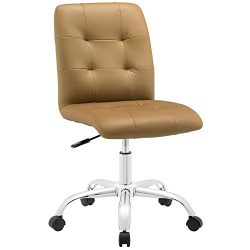 Modway Prim Mid Back Office Chair, Tan