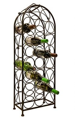Jmiles UH-BH259 Freestanding Wine Rack – Fully Assembled 23 Bottle Capacity (750 ml Standa ...