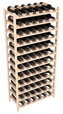 Wine Racks America Ponderosa Pine 72 Bottle Stackable. 13 Stains to Choose From!