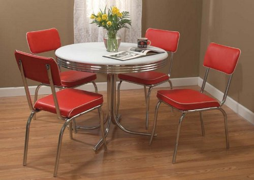 Target Marketing Systems 5 Piece Retro Dining Set With 4
