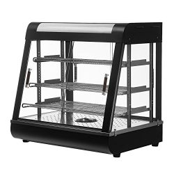SUNCOO Commercial Countertop Food Pizza Warmer Display Case/Restaurant Heated Cabinet 220V for H ...