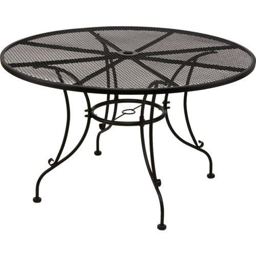 Mosaic Steel Mesh Round Dining Table Diningbee Diningbee