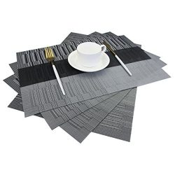 Bright Dream Placemats Easy to Clean Heat Ressietant for Dining Table Mats 12×18 inches Set ...