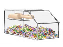 Marketing Holders Top Opening Display Cabinet Bread Bin (1, 7″ w Candy Bin)