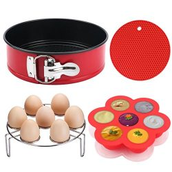 Instant Pot Accessories, MCIRCO Instant Pot Accessories Set, 7″Non-stick Leakproof Cake Pa ...