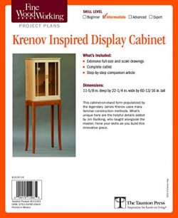 Fine Woodworking's Krenov Inspired Display Cabinet Plan