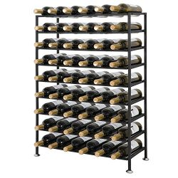 Smartxchoices 23-54 Bottles Wrought Iron Wine Racks Foldable Sturdy Free Standing Cellar Storage ...