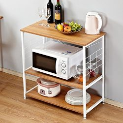 Need Kitchen Rack 31.5″ x 15.7″ Baker's Rack Kitchen Utility Microwave Oven St ...