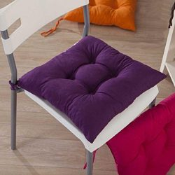 Gotd Indoor Garden Patio Home Kitchen Office Chair Pads Seat Pads Cushion (Purple)