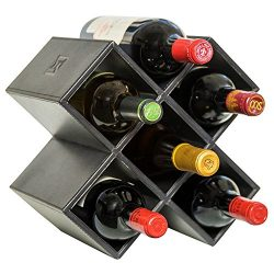 Kaydian Krafts Countertop Wine Rack – 6 Bottle Decorative Tabletop Wine Bottle Holder R ...