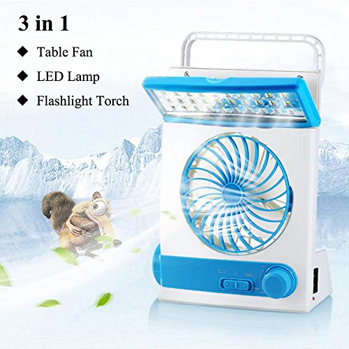 LIANGUS 3-in-1 Solar Fan Portable Cooling Fan with Lamp Multi-functional Solar Camping Fan Flash ...