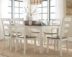 Signature Design by Ashley D335-425 Woodanville Dining Table, White/Brown