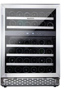 "Phiestina 46 Bottle Wine Cooler 24"" Built-in or Free-standing Compressor Cooling Refrigera ..."