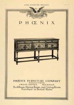 1918 Ad Sideboard Buffet Table Phoenix Furniture Co. – Original Print Ad